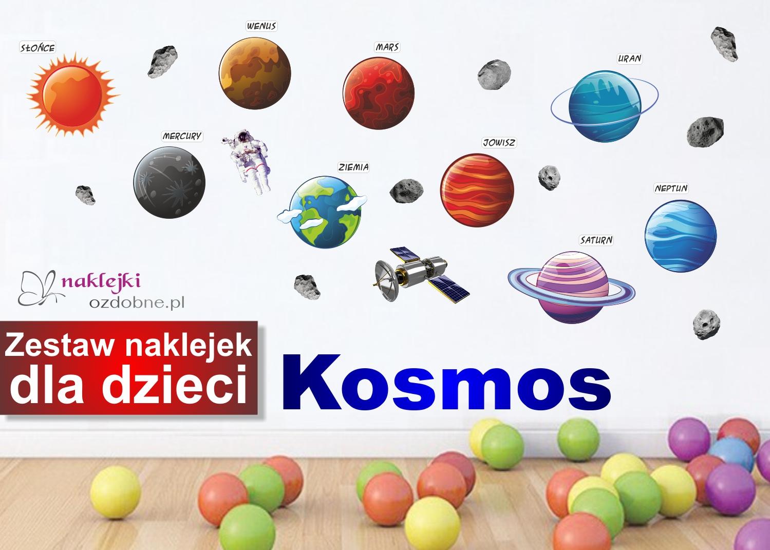 Kosmos Planety Zestaw Naklejek